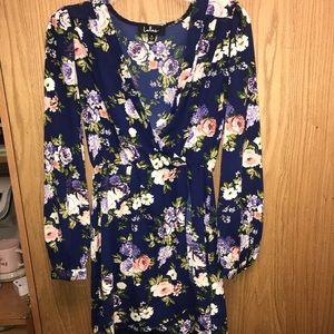 Lulus floral print long sleeve dress